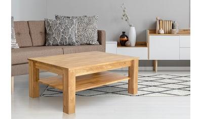Home affaire Couchtisch »Milla«, aus massiver geölter Wildeiche, mit einem Ablageboden, Breite 105 cm kaufen