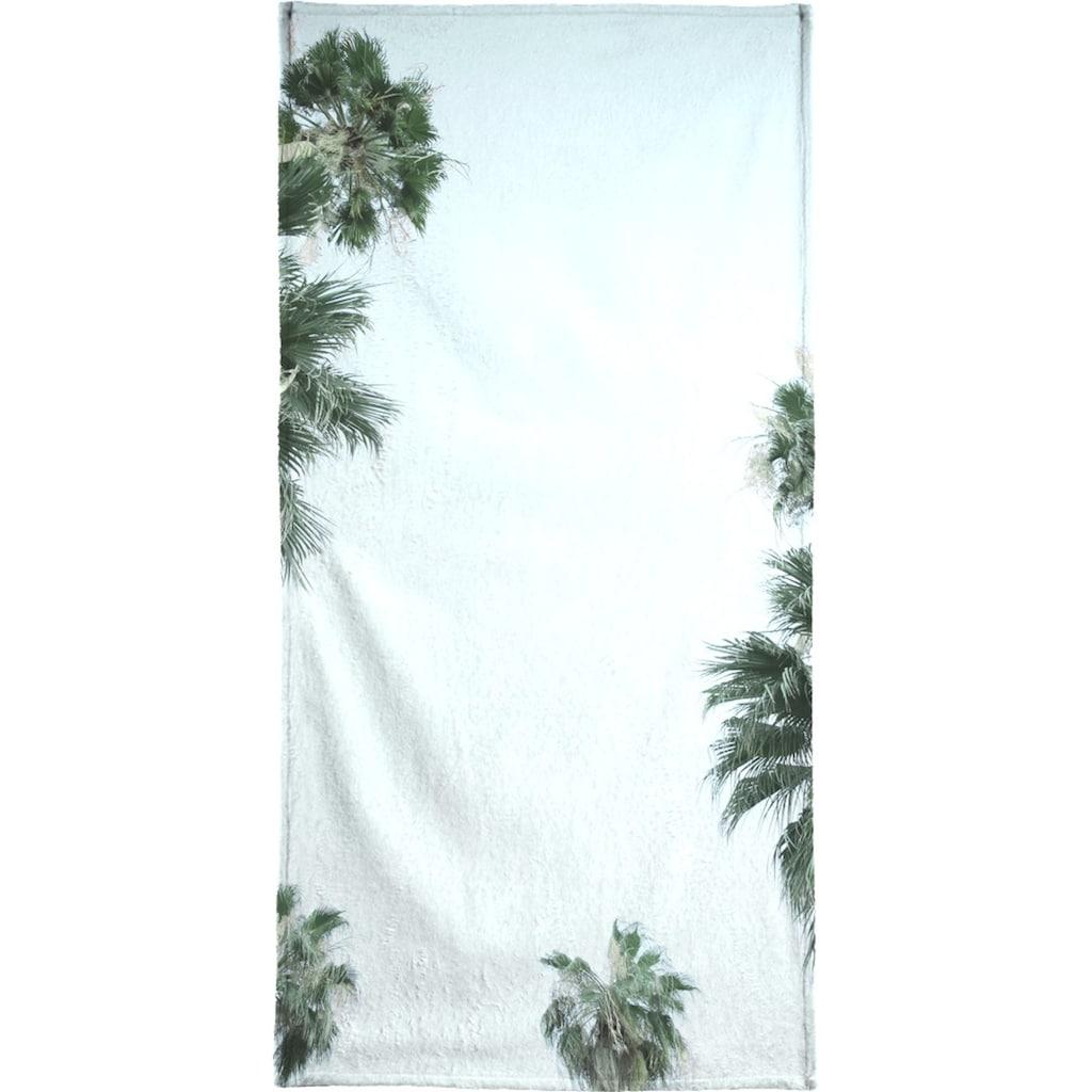 Juniqe Handtuch »Palm Springs«, (1 St.), Weiche Frottee-Veloursqualität