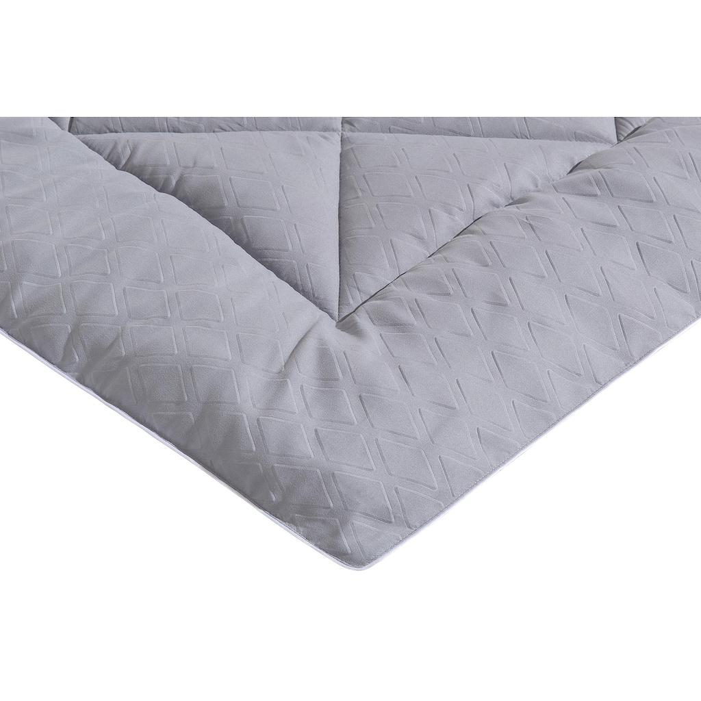 my home Microfaserbettdecke »Float«, normal, Füllung 100% Polyester, Bezug Polyestergewebe, (1 St.), Bezug einseitig mit 3D Diamand Muster geprägt