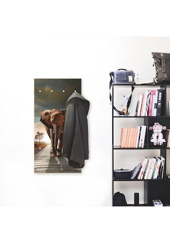 Artland Garderobe »Ein Elefant läuft auf der Strasse«, platzsparende Wandgarderobe aus... kaufen