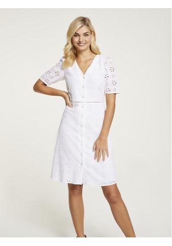 Kleid mit Lochstickerei kaufen