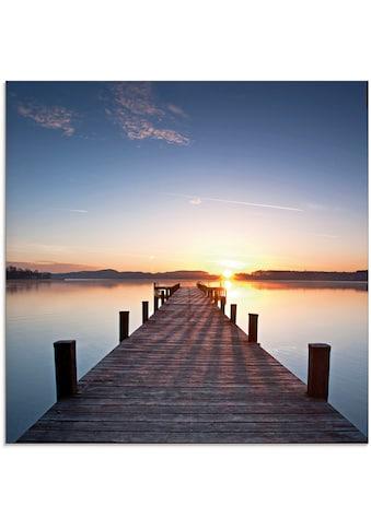 Artland Glasbild »Sonnenstrahlen  -  Sonnenuntergang« kaufen