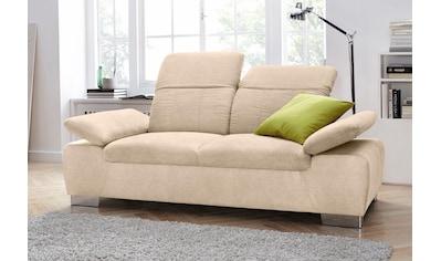 DOMO collection 2-Sitzer »Milan«, mit Rückenverstellung und Federkern kaufen