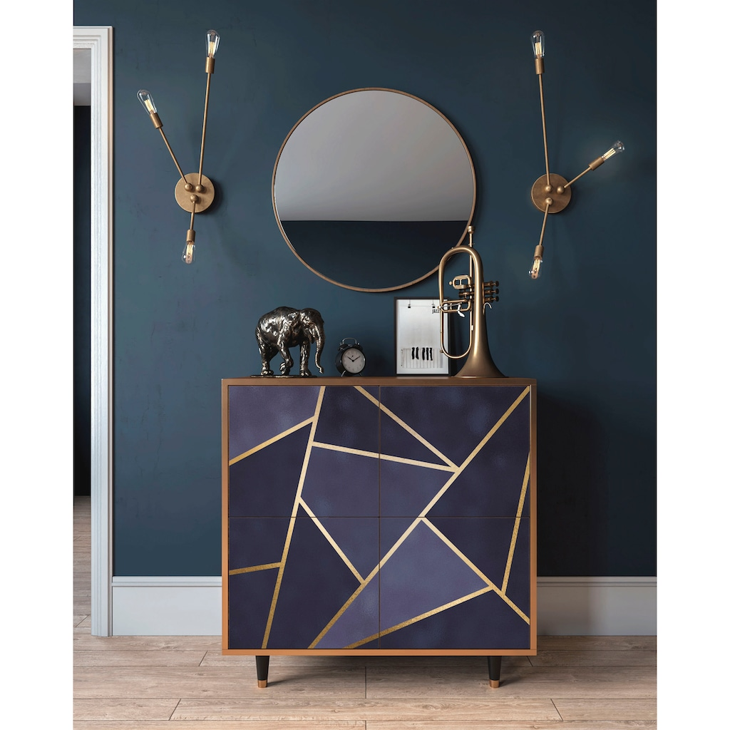 Places of Style Kommode »Amethist«, mit dekorativem Print auf den Türen