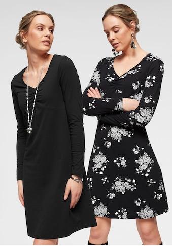Flashlights Jerseykleid, (Packung, 2 tlg.), mit femininer Raffung am Ausschnitt kaufen