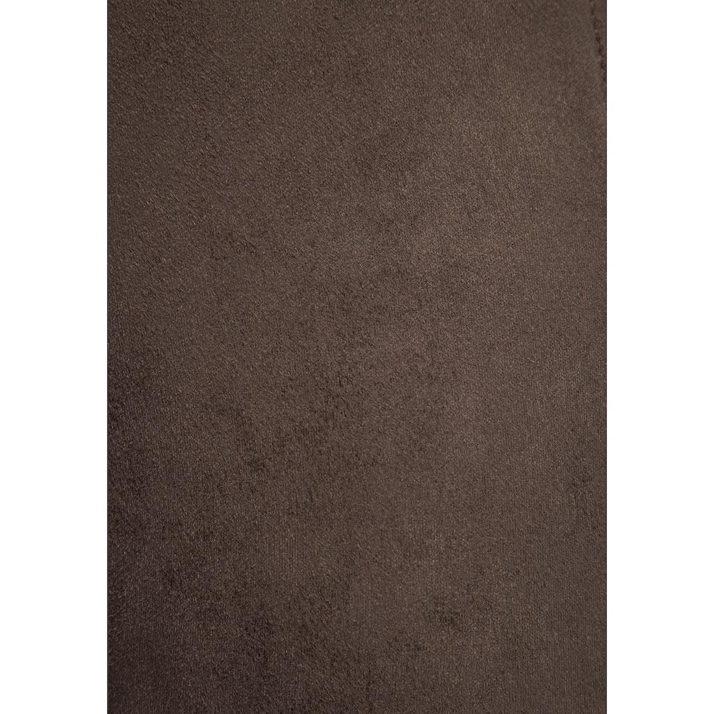 MAC Lederimitathose »Spirit«, Breites formgebendes Bündchen