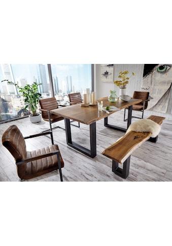 Premium collection by Home affaire Esstisch »Queens«, Akazie natur, mit Baumkante kaufen
