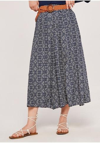 Apricot Sommerrock »Mosaic Crinkle Belted Skirt«, (mit abnehmbarem Gürtel), mit... kaufen