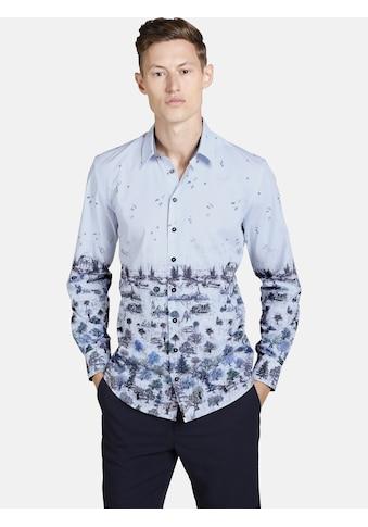 SHIRTMASTER Langarmhemd »winterpainting«, mit Szeneriedruck kaufen