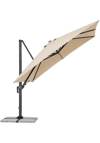 Schneider Schirme Ampelschirm »Rhodos Twist«, ca. 300 x 300 cm, natur, quadratisch, ohne Wegeplatten kaufen