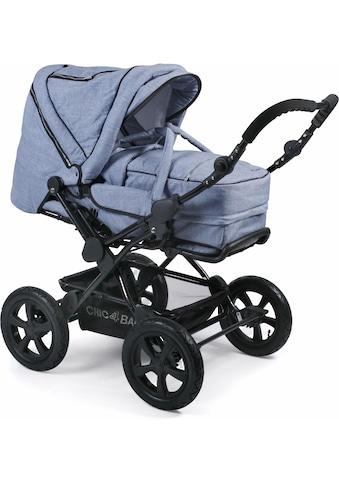 CHIC4BABY Kombi-Kinderwagen »Viva, hellblau«, 15 kg, mit Lufträdern; Kinderwagen kaufen