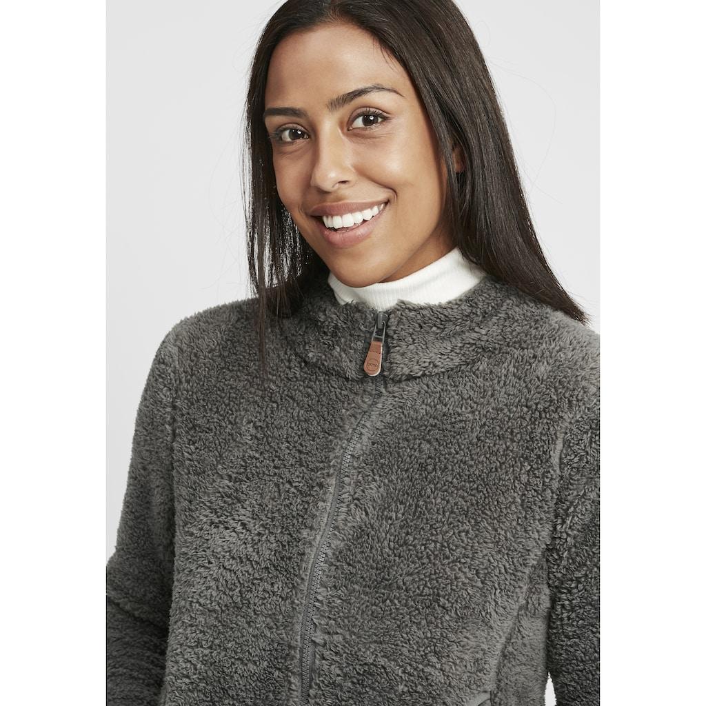OXMO Kapuzensweatjacke »Telsa«, Sweatshirtjacke aus Teddy-Fleece Stoff