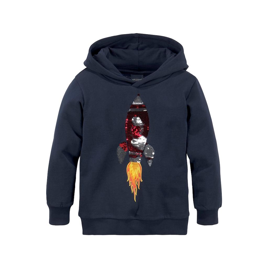 KIDSWORLD Kapuzensweatshirt, mit Rakete aus Wendepailletten