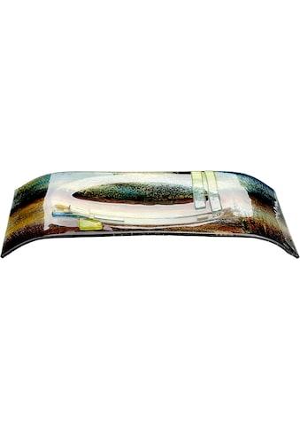 GILDE GLAS art Dekoschale »Schale Campo, rechteckig«, aus Glas, mundgeblasen, Wohnzimmer kaufen