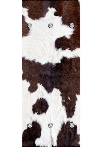 queence Garderobenpaneel »Kuhfell«, mit 6 Haken, 50 x 120 cm kaufen