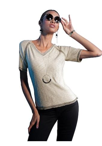 creation L Kurzarmpullover »Pullover« kaufen