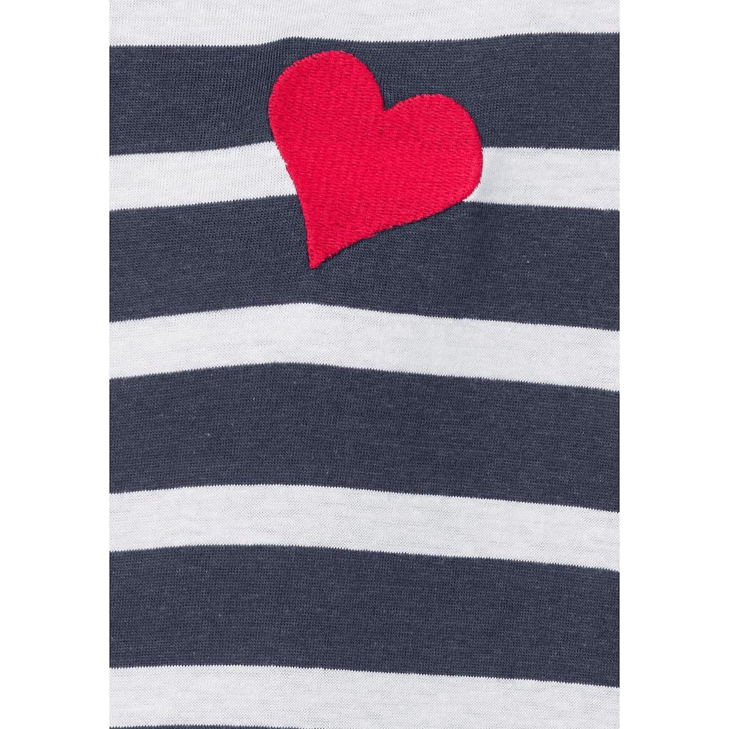 AJC T-Shirt, mit Herzchen-Stickerei