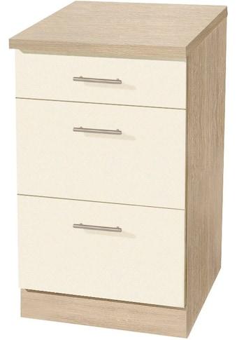 wiho Küchen Unterschrank »Kiel«, 50 cm breit, mit 2 grossen Auszügen kaufen