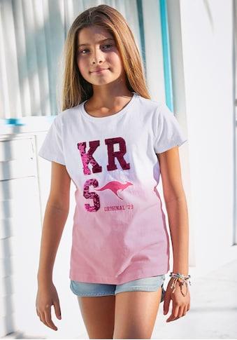 KangaROOS T-Shirt, Im Farbverlauf mit Wendepailletten kaufen