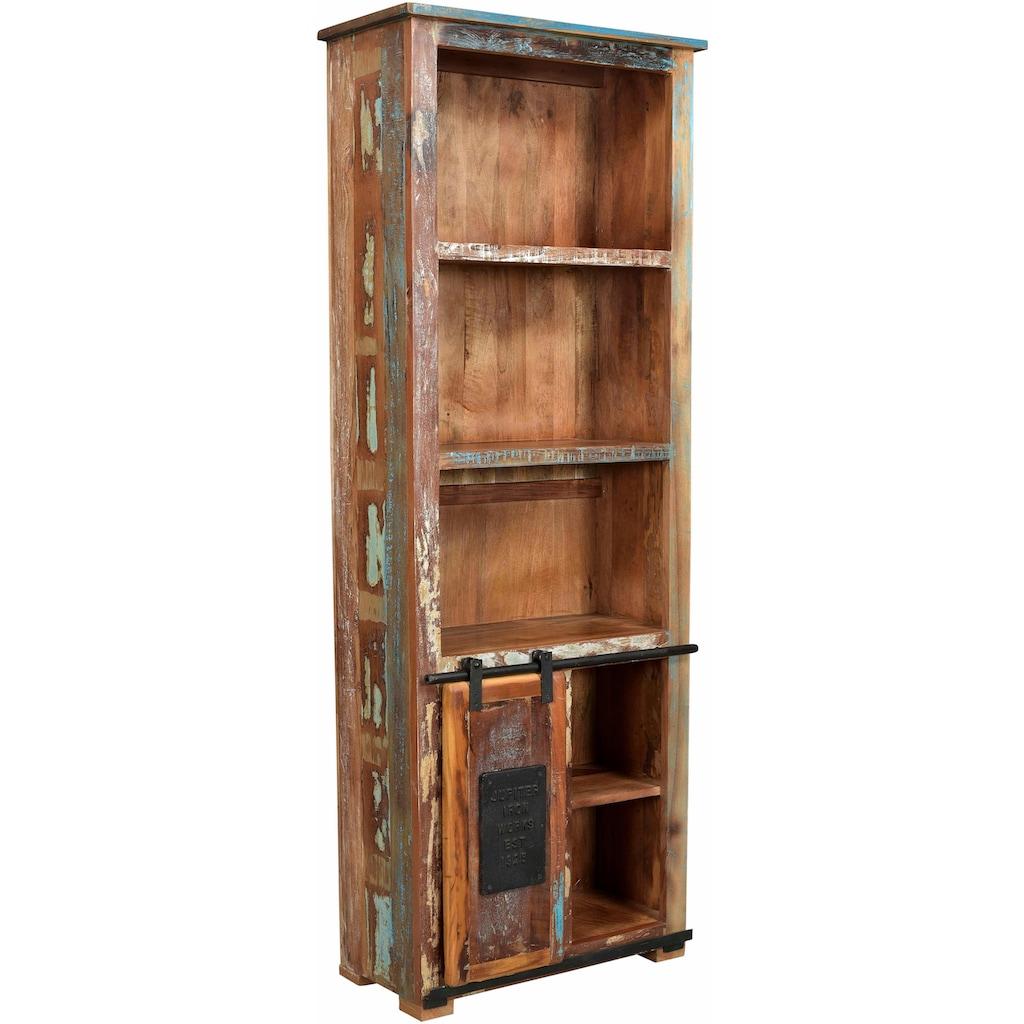 SIT Bücherregal »Jupiter«, aus recyceltem Altholz, Höhe 180 cm, Shabby Chic, Vintage