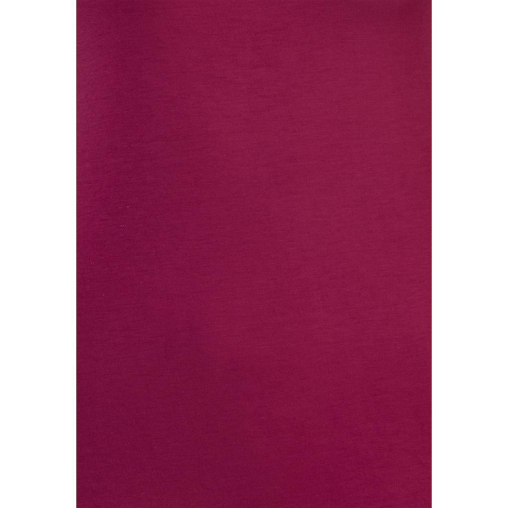 LASCANA Spaghettitop, mit grafischer Spitze