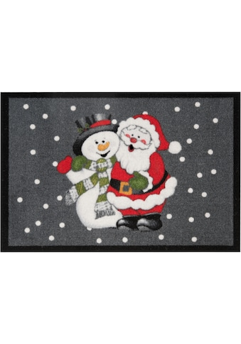 Fussmatte, »Santa Snowman«, HANSE Home, rechteckig, Höhe 7 mm, maschinell getuftet kaufen