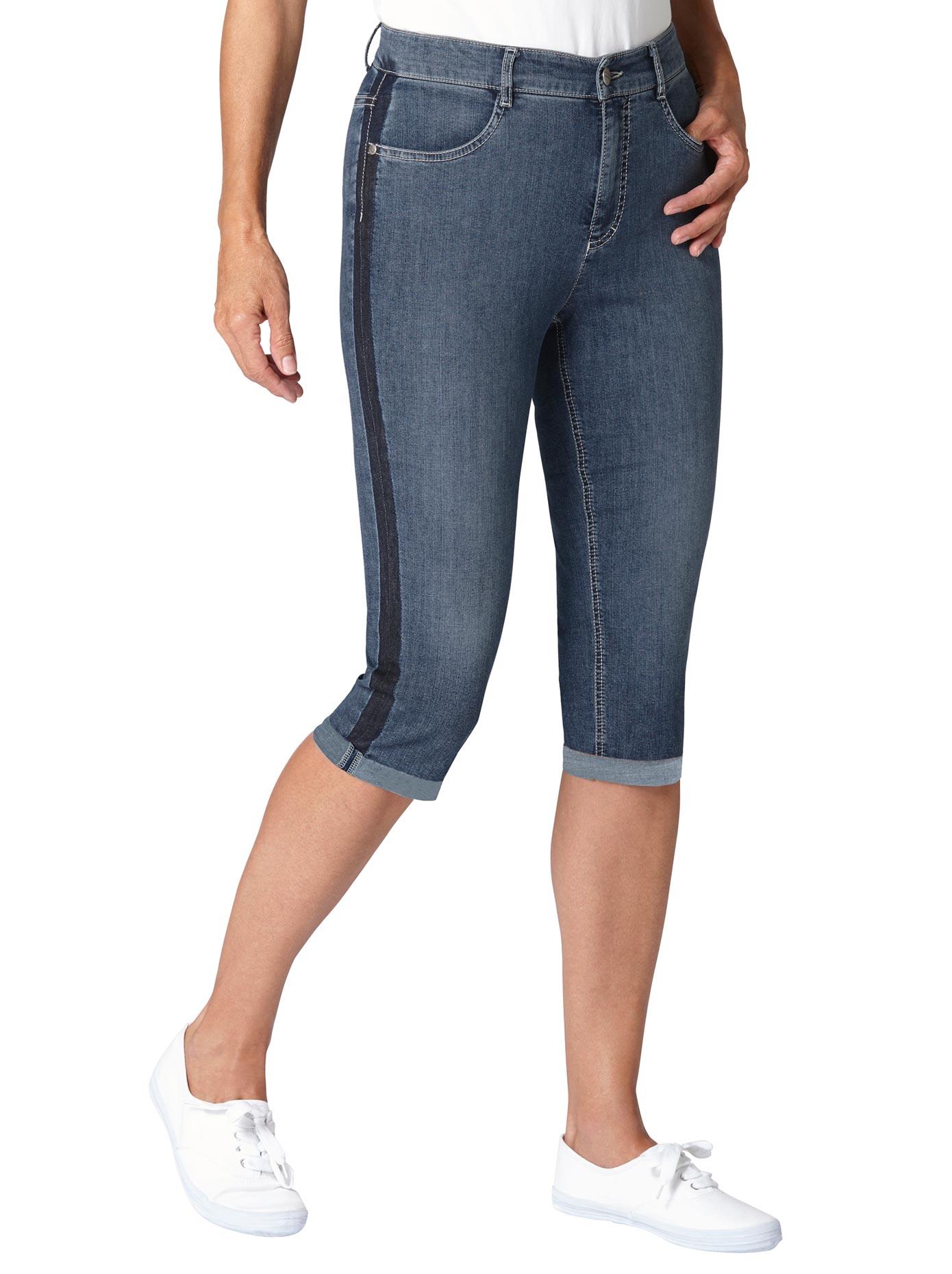 Image of Ascari Capri-Jeans mit seitlicher Kontrast-Waschung