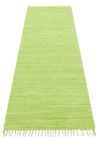 Lüttenhütt Läufer »Paul«, rechteckig, 5 mm Höhe, handgewebt, beidseitig verwendbar, mit Fransen kaufen