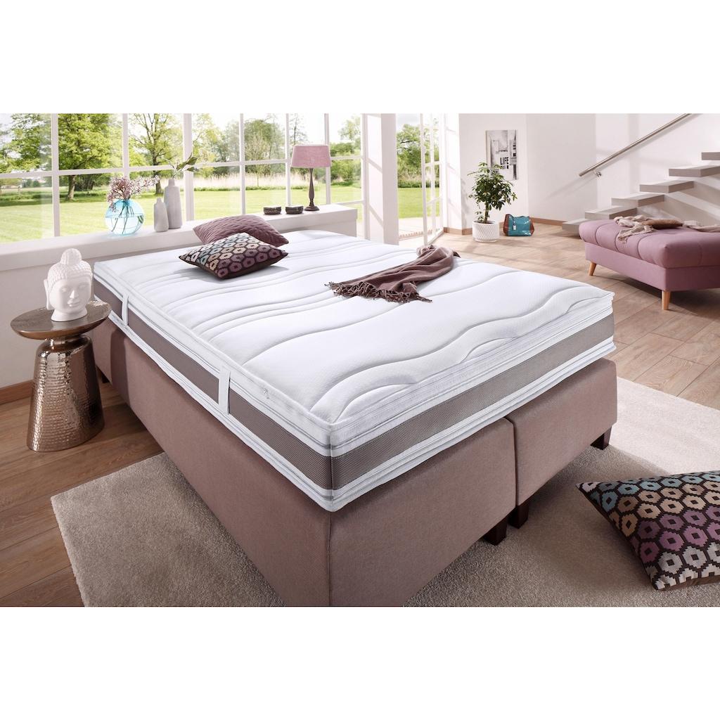 fan Schlafkomfort Exklusiv Kaltschaummatratze »Punktoflex De Luxe KS«, 22 cm cm hoch, Raumgewicht: 40 kg/m³, (1 St.), mit Greenfirstbezug gegen Milben