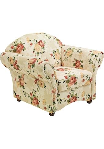 Max Winzer® Sessel »Carolina«, mit Holz-Kugelfüssen, Blumen kaufen