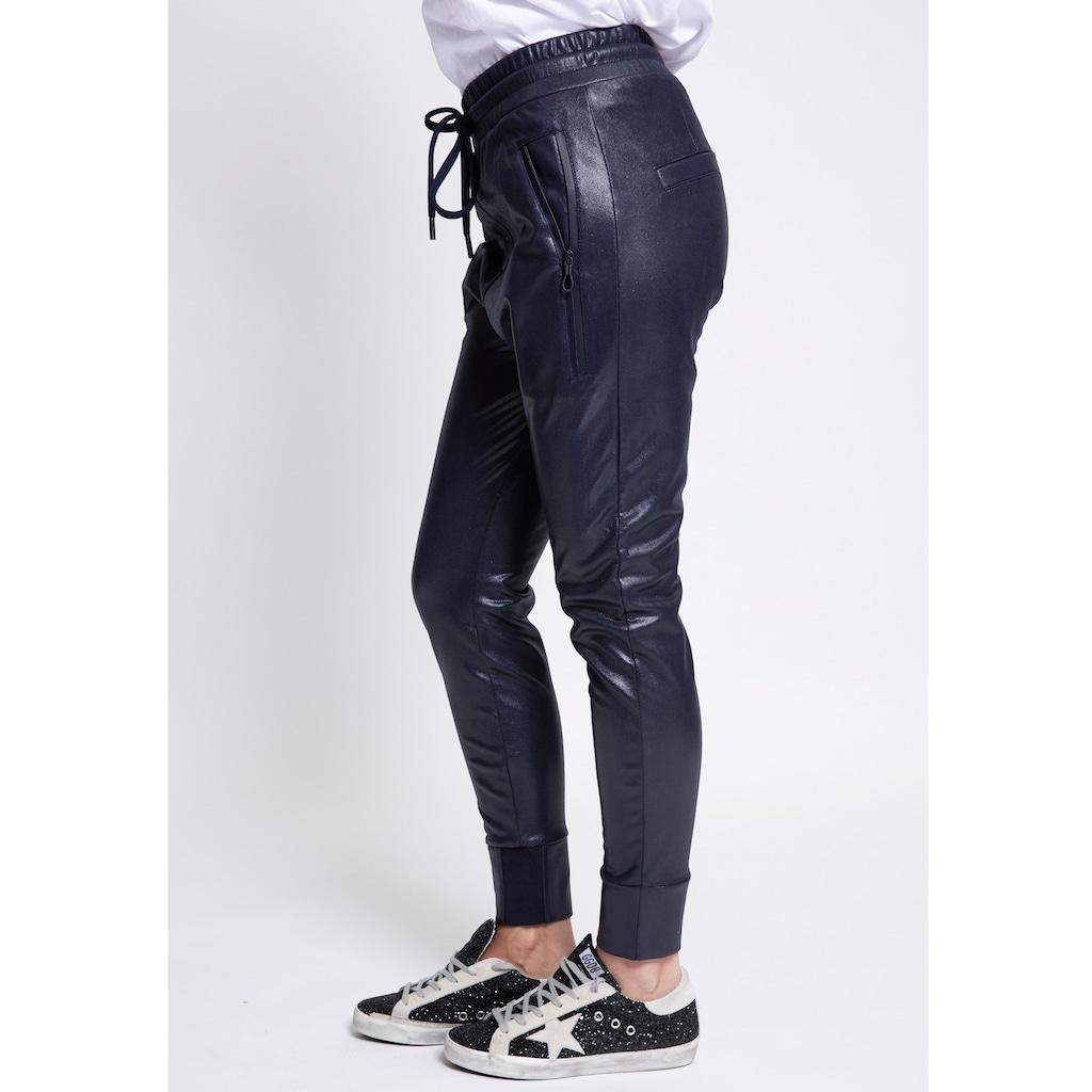 Zhrill Jogger Pants »FABIA FAKE LEATHER«, Lederimitathose im Joggerstil mit elastischem Bündchen