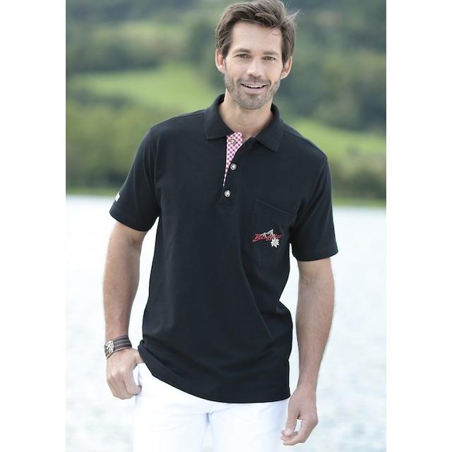 Trachtenpolo, Brusttasche mit Stickerei, OS-Trachten