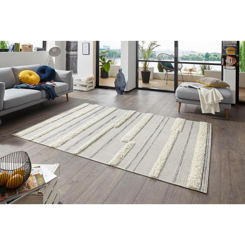 MINT RUGS Teppich »Ifrane«, rechteckig, 35 mm Höhe, In- und Outdoor geeignet, Hoch-Tief-Struktur, Wohnzimmer