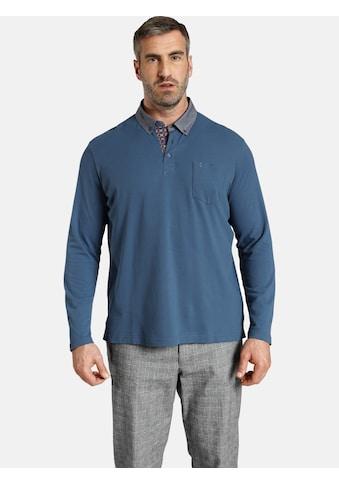 Charles Colby Langarm-Poloshirt »DUKE BRENNAN«, feines Zopf-Strickmuster kaufen