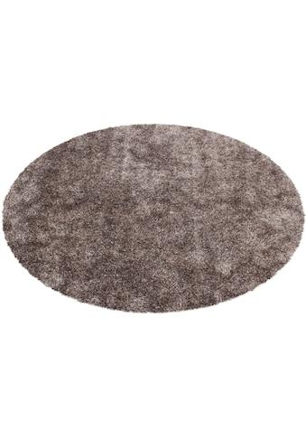 Kayoom Hochflor-Teppich »Diamond 700«, rund, 40 mm Höhe, besonders weich durch Microfaser, Wohnzimmer kaufen