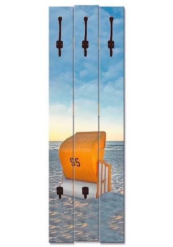 Artland Garderobenpaneel »Ostsee7 - Strandkorb«, platzsparende Wandgarderobe aus Holz... kaufen