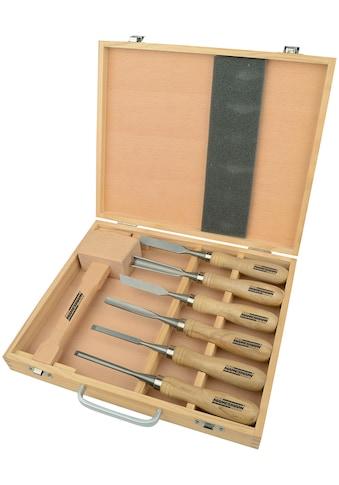 Brüder Mannesmann Werkzeuge Werkzeugset, (7 St.), Schnitzgerät kaufen