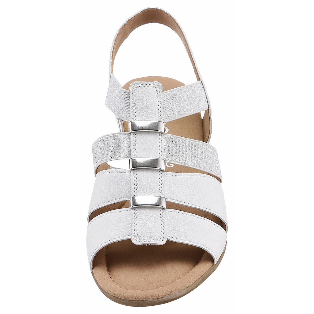 Gabor Sandalette, mit ansprechenden Metallapplikationen