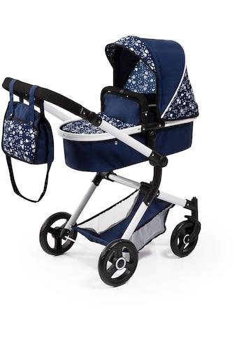Bayer Kombi-Puppenwagen »Vario, Blau/Weiss«, inkl. Wickeltasche kaufen