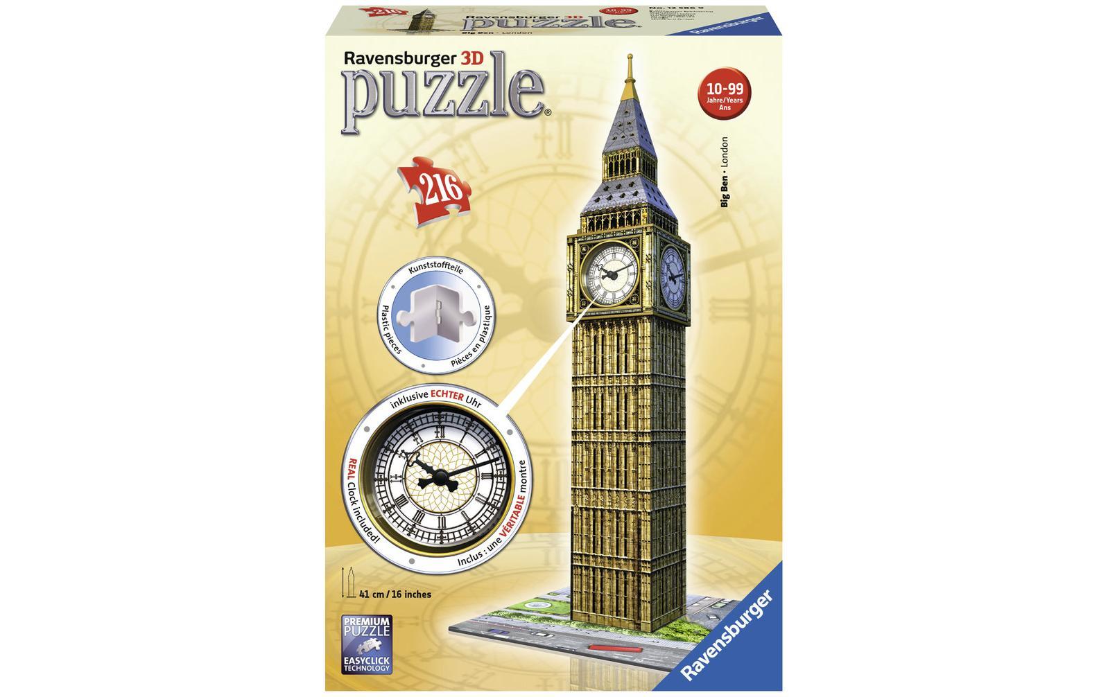 Image of 3D Puzzle, Ravensburger, »Big Ben mit Uhr«