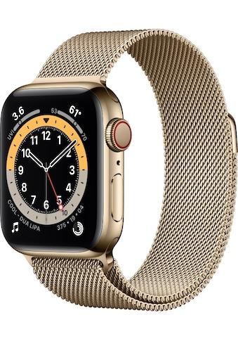 Apple Smartwatch »Apple Watch Series 6 GPS + Cellular, Edelstahlgehäuse, 40 mm mit... kaufen