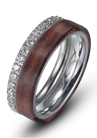 Firetti Ring-Set »6,0 mm, glänzend und matt, bicolor«, (Set, 2 tlg.), mit Zirkonia kaufen