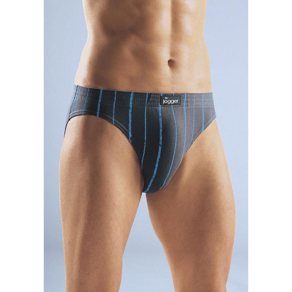 le jogger® Slip, (3 St.), mit kontrastfarbenen Streifen