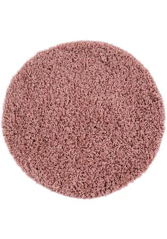 Hochflor - Teppich, »Twister 500«, Paco Home, rund, Höhe 45 mm, maschinell gewebt kaufen