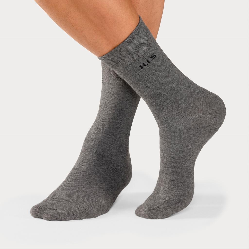 H.I.S Socken, (4 Paar), mit druckfreiem Bündchen