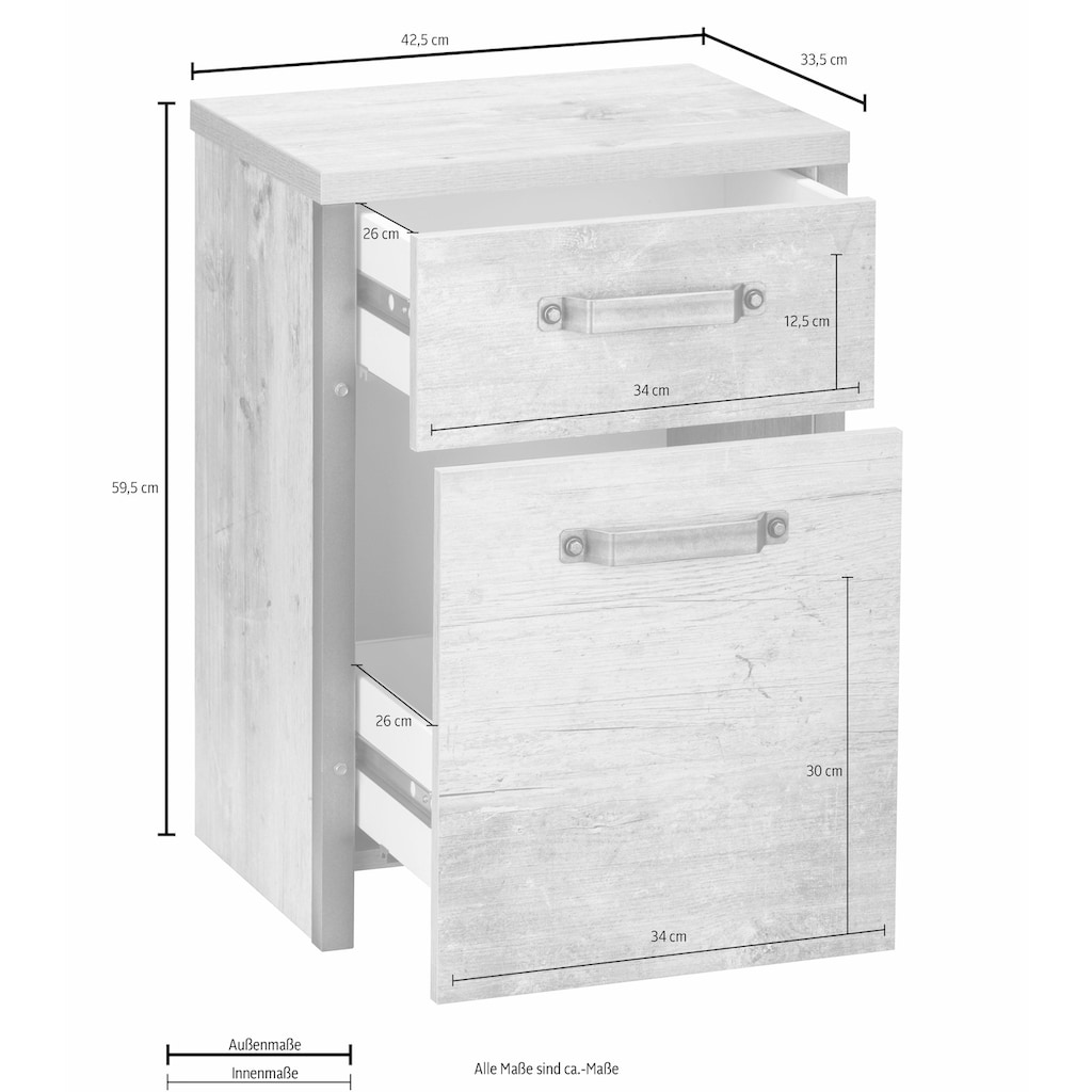 Schildmeyer Rollcontainer »Harkon«, mit Softclose