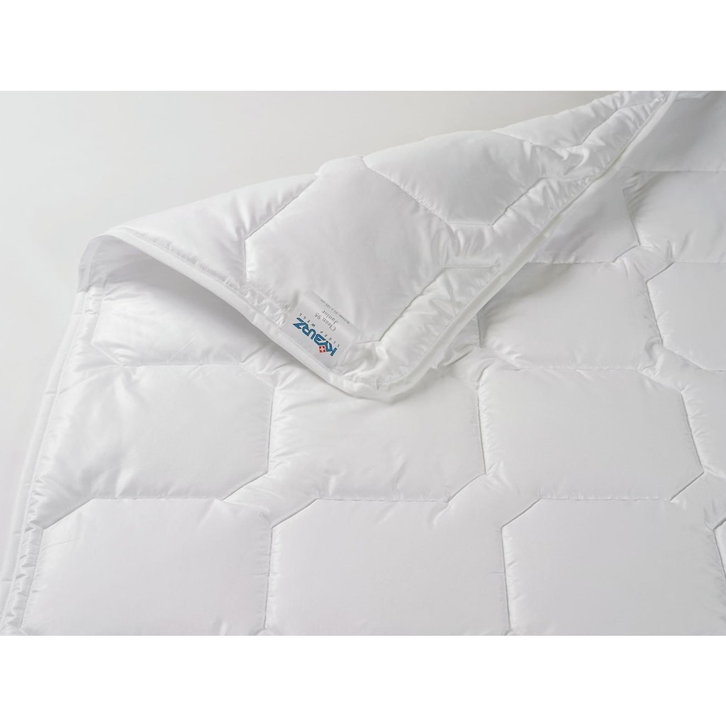 Kyburz Einziehdecke »Clean 95° Junior«, Füllung 100% Polyester-Softbausch-Hohlfaser-Vlies, Bezug 100% Baumwolle, (1 St.)