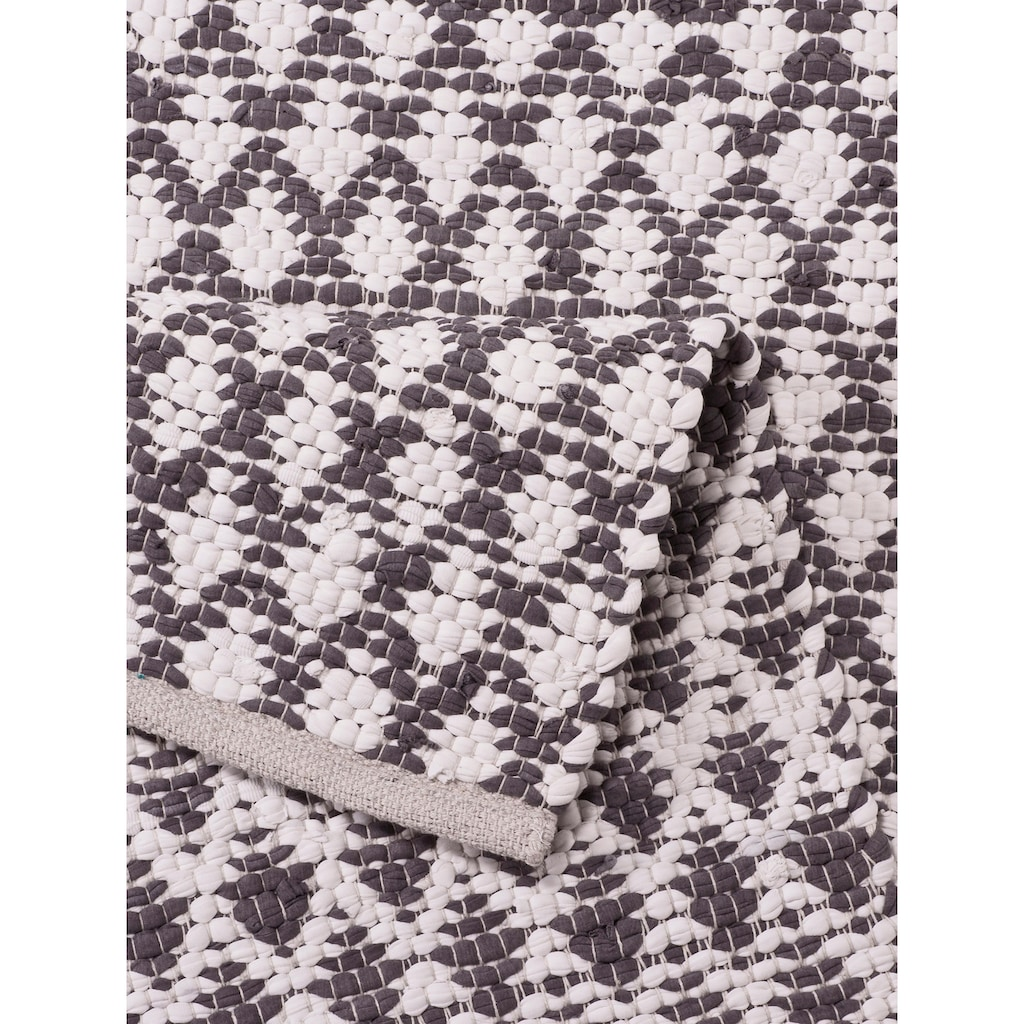 Home affaire Teppich »Edge«, rechteckig, 10 mm Höhe, Wendeteppich, Wohnzimmer