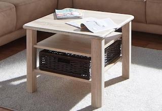 couchtisch mit flechtkorb und ablageboden auf rechnung kaufen. Black Bedroom Furniture Sets. Home Design Ideas