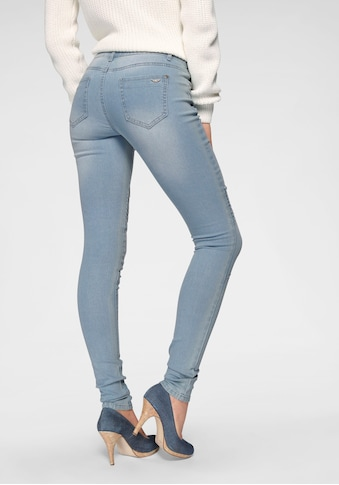 Arizona Skinny-fit-Jeans »im Biker- Look«, Low Waist kaufen